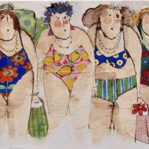 Les copines à la plage